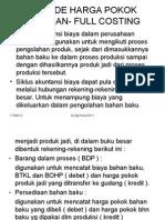 Metode Harga Pokok Pesanan- Full Costing