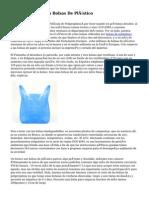 Cara Un Futuro Sin Bolsas De Plástico
