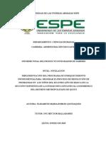 Desarrollo de Estrategias Metodológicas Analíticas Para Mejorar El Proceso de Resolución de Problemas en Los Niños Del Segundo Año de Básica de La Sección Vespertina de La Unidad Educativa Fiscal Luxemburgo Del Dist