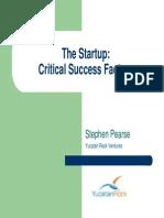 MIT - The Startup - Criticial Success Factors