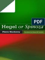 Hegel or Spinoza