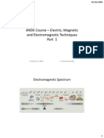 Electric, Magnetic and Electromagnetic Techniques Part 1