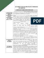 Formato de Formulación de Imputacion