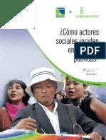 Actores Sociales Politicas