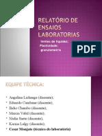 Relatório de Ensaios Laboratorias