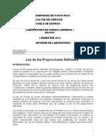 Informe 5. Ley de Las Proporciones Definidas