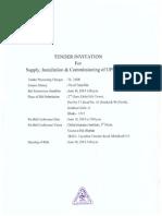 Tender Schedule_UPS & ATS_Delta Life Insurance