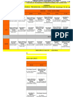 Horario Derecho 2015-1 II Modulo Domingo 02 de Agosto 2015