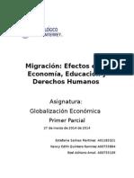 migracion efectos de la economia educacion y derechos humanos