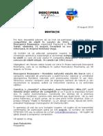 Invitatie Descopera Rowmania Galati 2015