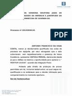 Defesa Previa Antônio Francisco Da Silva Costa