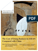 The Cost of Doing Business in ASEAN Compared With China - Preview