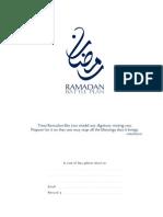 Halalify Ramadan Battle Plan 2015 Complimentary Planner
