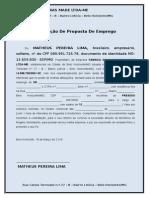 MODELO Declaração de Proposta de Emprego Presidiário