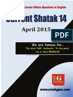 Current Shatak 14 Current Affairs April 2015 in English