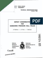 National Defence Technical Memorandum