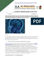 Portal 20003 20aprender y Practicar Aleman Gratis en La Web HTML