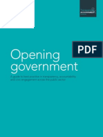 Opening Government - A guide to best practice in transparency, accountability and civic engagement across the public sector