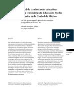 El rol de las elecciones en la transición a las instituciones de Educación Media Superior en la Ciudad de México
