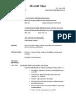 folger resume summer 2015