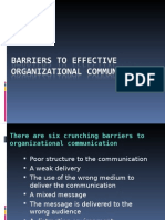Barriers to Effective Organizational Communication(2)(3)