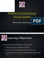 Anatomy Physiology Visual System April 2013