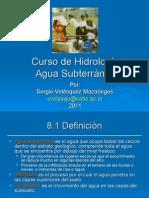 Curso de Hidrología Agua Subterránea