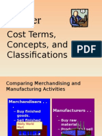 L-1 Cost Terms, Concepts, And Classifications