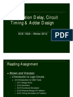 L4 - Propagation Delay, Circuit Timing & Adder Design
