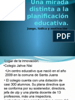 Una Mirada Distinta a La planificacion educativa