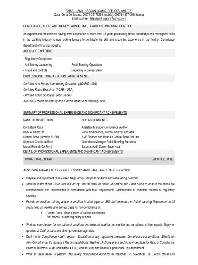 Detail cv regulatory compliance money laundering 1betcityfo Choice Image