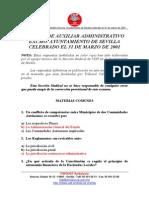 Examen Administrativo Ayuntamiento Sevilla