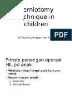 Herniotomy Technique in Children
