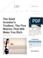 The Geek Investor's Toolbox_ the Five Metrics That Will Make You Rich - GoodPlace