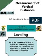 Measurement of Vertical Distances