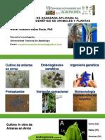 Biotecnologias de Avanzada en Animales y Plantas Walter Reyes