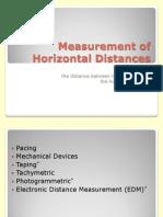 Measurement of Horizontal Distances