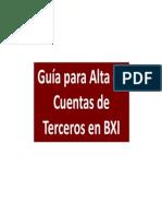 Alta Cuentas Terceros BXI