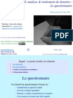 Methodologie Conception Et Administration de Questionnaires