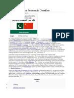 Pak China Economic Corridor Facts
