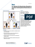 Calorie for Calorie, Dietary Fat Restriction Results in More Body Fat Loss than Carbohydrate Restriction in People with Obesity