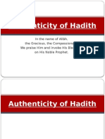 Authenticity of Hadith