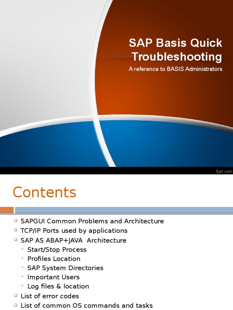 SAP BASIS Quick Troubleshooting Guide (2013) | Directory (Computing