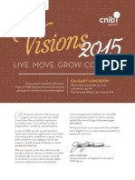 Visions 2015 - Sponsorship Package
