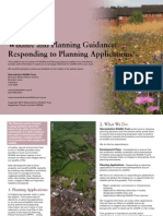 responding to planning applications - wildlife and planning guidance