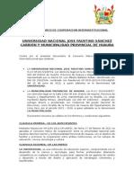 Convenio Marco de Cooperacion Interinstitucional Muni y Universidad