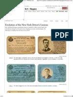 NY Drivers License History