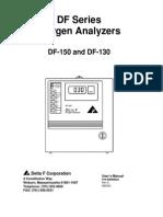 Delta F DF 150 O2 Analyzer Manual