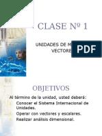 Clase 1unidades de Medida y Vectoresnm3 FISICA