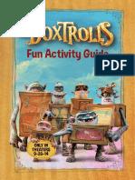 Boxtrolls Activity Sheets